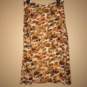 Cream Colored Print Skirt